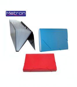 Φάκελος Metron 12 Θέσεων Α4 με Λάστιχο