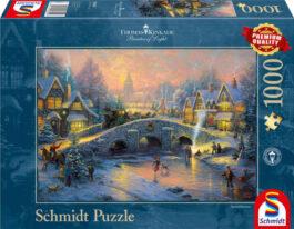 Puzzle 1000 Kinkade – Χειμώνας Στο Χωριό