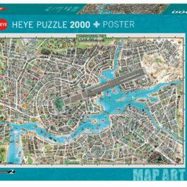 Puzzle 2000 Map Art – Η Πόλη της Pop