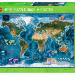 Puzzle 2000 World – Δορυφορικός Χάρτης