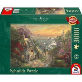 Puzzle 3000 Kinkade – Ο φάρος του Χωριού