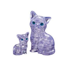 3D Puzzle – Γάτα και Γατάκι UV