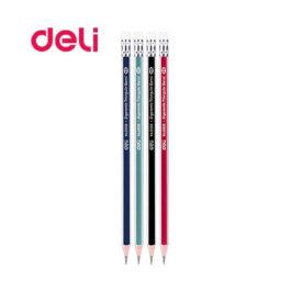 Μολύβι Deli Ριγέ με Γόμα W38039