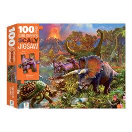 Puzzle 100 Φολιδωτό – Το Νησί των Δεινόσαυρων