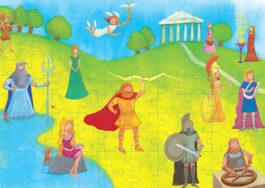 Puzzle 100-Θεοι του Ολύμπου