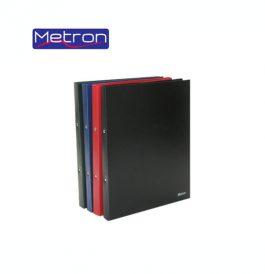 Ντοσιέ Πλαστικό Metron 2 Κρίκων Α4 Ματ 2cm