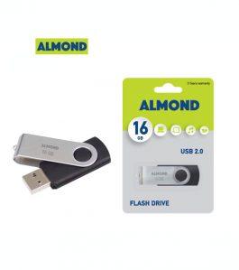 USB Flash Drive Almond 16GB Twister Μαύρο