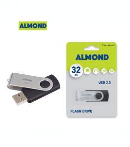 USB Flash Drive Almond 32GB Twister Μαύρο