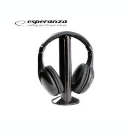 Ακουστικά Ασύρματα Esperanza Titanum Liberty Μαύρο