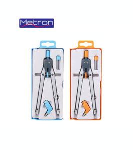 Διαβήτης Metron Χρωματιστός με Βίδα Δαχτυλίδι και Μύτες