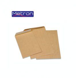 Φάκελοι Καφέ Σακούλα Metron 90gr με Αυτοκόλλητο
