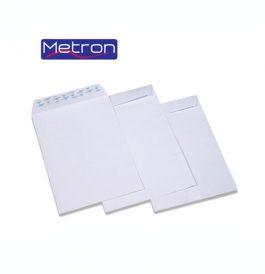 Φάκελοι Λευκοί Σακούλα Metron 90gr με Αυτοκόλλητο