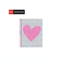 Τετράδιο Σπιράλ Miquelrius Love 120 Φύλλα A5