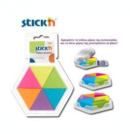 Χαρτιά Σημειώσεων Αυτοκόλλητα Τρίγωνα-Παζλ 43x50mm Stick'n 150Φ