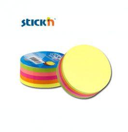 Χαρτιά Σημειώσεων Αυτοκόλλητα Κύκλος 67x67mm Stick'n 250Φ Νέον Χρωματιστά