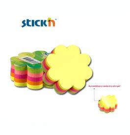 Χαρτιά Σημειώσεων Αυτοκόλλητα Λουλούδι 67x67mm Stick'n 250Φ Νέον Χρωματιστά