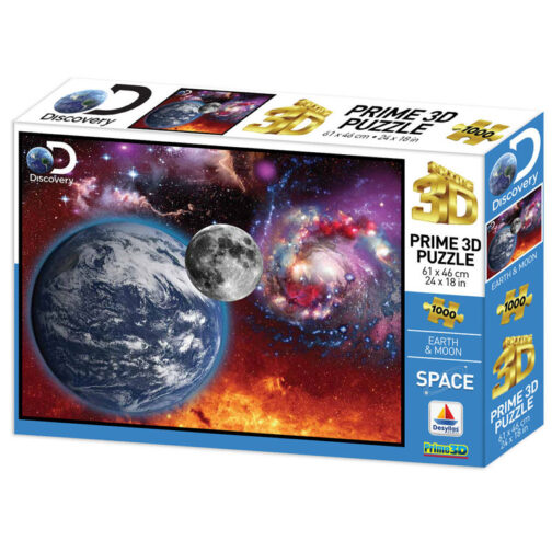 3D Puzzle Earth and Moon