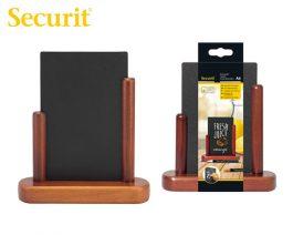 Μαυροπίνακας Υγρής Κιμωλίας Securit με Ξύλινη Βάση Τραπεζιού 17.5 x 15.5 cm