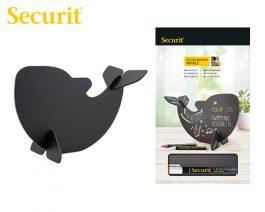 Μαυροπίνακας Υγρής Κιμωλίας Securit 3D Φάλαινα με Βάση Τραπεζιού 22 x 14.5 x 10 cm