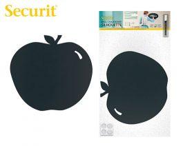 Μαυροπίνακας Υγρής Κιμωλίας Securit Μήλο με Αυτοκόλλητα και Μαρκαδόρο 31.6x29cm
