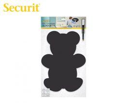 Μαυροπίνακας Υγρής Κιμωλίας Securit Αρκούδα με Αυτοκόλλητα και Μαρκαδόρο 40.2 x 29.7 cm