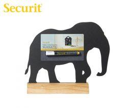 Μαυροπίνακας Υγρής Κιμωλίας Securit Ελέφαντας με Ξύλινη Βάση Τραπεζιού 24×29.5cm