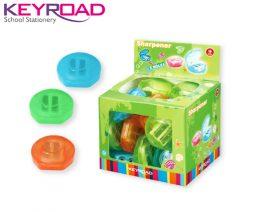 Ξύστρα Πλαστική Βαρελάκι Διπλή Χρωματιστή Keyroad