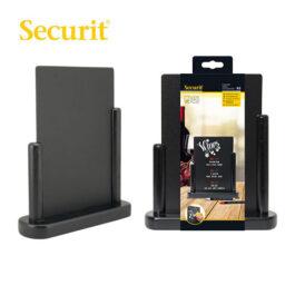Μαυροπίνακας Υγρής Κιμωλίας Securit με Ξύλινη Βάση Τραπεζιού Μαύρη