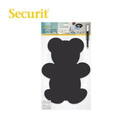 Μαυροπίνακας Υγρής Κιμωλίας Securit Αρκούδα με Αυτοκόλλητα και Μαρκαδόρο