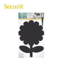 Μαυροπίνακας Υγρής Κιμωλίας Securit Λουλούδι με Αυτοκόλλητα και Μαρκαδόρο