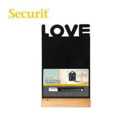 Μαυροπίνακας Υγρής Κιμωλίας Securit Love με Ξύλινη Βάση Τραπεζιού