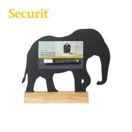 Μαυροπίνακας Υγρής Κιμωλίας Securit Ελέφαντας με Ξύλινη Βάση Τραπεζιού