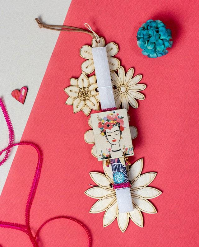 Λαμπάδα Frida με Σκουλαρίκια