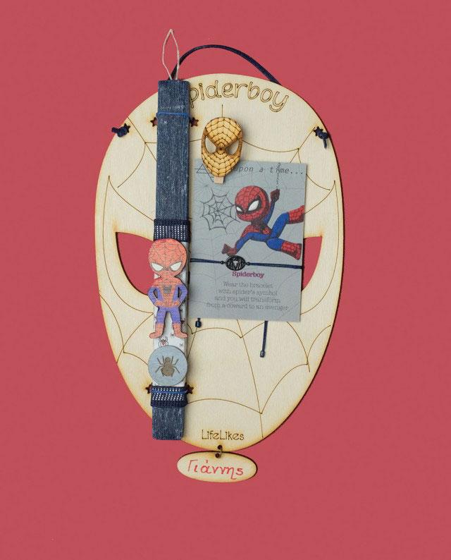 Λαμπάδα SpiderBoy Πρόσωπο