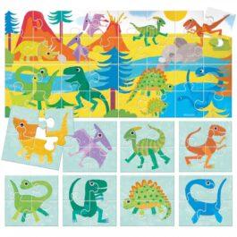 Puzzle 8+1 Δεινόσαυροι