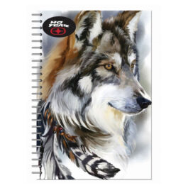 No Fear Τετράδιο Σπιράλ Wild Wolf 17×25 2 Θεμάτων 70 Φύλλων