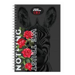 No Fear Τετράδιο Σπιράλ Rose Zebra 17×25 2 Θεμάτων 70 Φύλλων