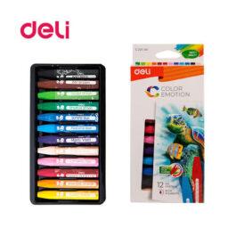 Λαδοπαστέλ Blister Deli 10x80mm Colorun 12 Χρώματα