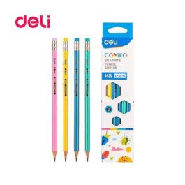 Μολύβι Deli Ριγέ με Γόμα Comiko HB C011