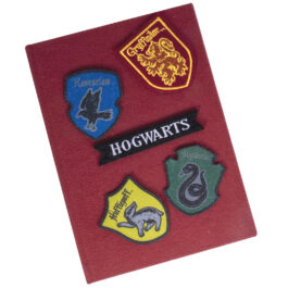 Harry Potter Σημειωματάριο Velcro with Patches SLHP426