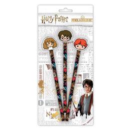 Harry Potter Kawaii 3 Pencil and Eraser Set SLHP442