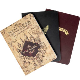 Harry Potter 3 Σημειωματάρια A6 Icons and Map SLHP472