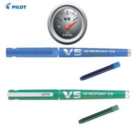 Στυλό Μαρκαδόρος Pilot V5 με Αμπούλα 0.5mm